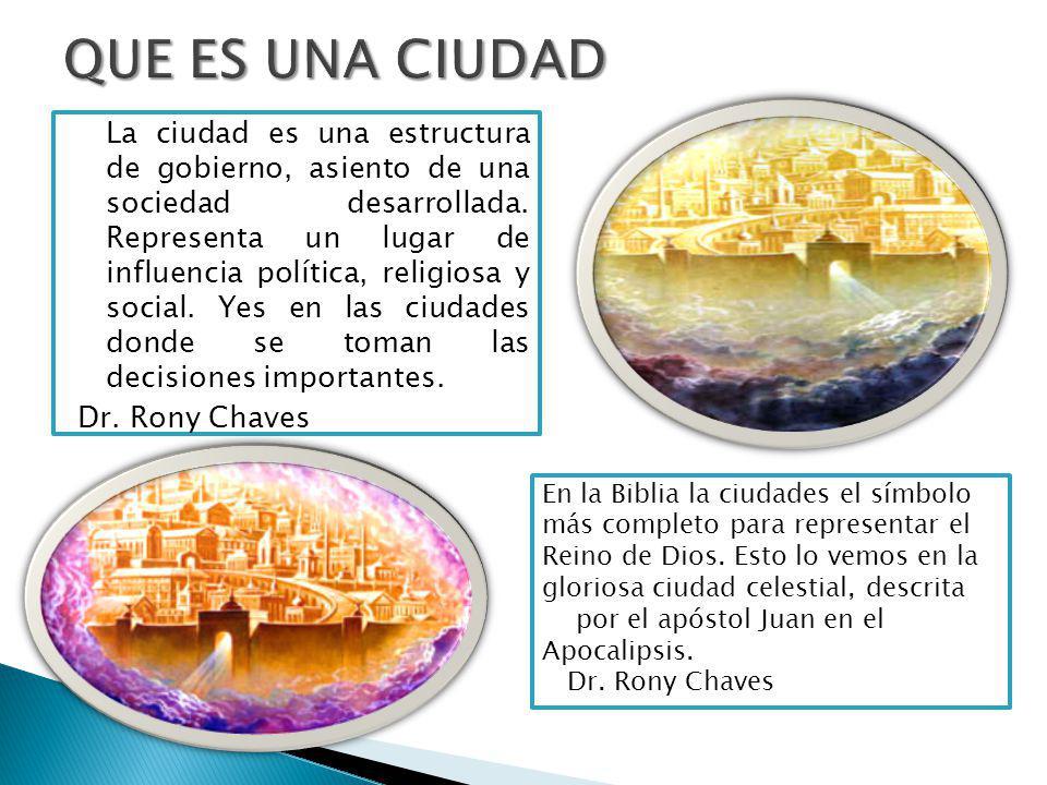 La ciudad es una estructura de gobierno, asiento de una sociedad desarrollada.