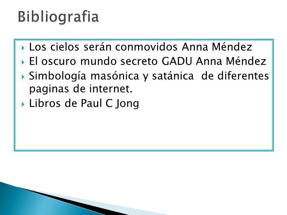  Los cielos serán conmovidos Anna Méndez  El oscuro mundo secreto GADU Anna Méndez  Simbología masónica y satánica de diferentes paginas de internet.