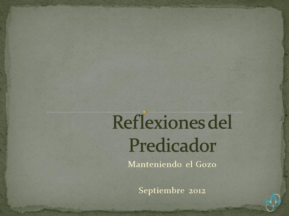 Manteniendo el Gozo Septiembre 2012