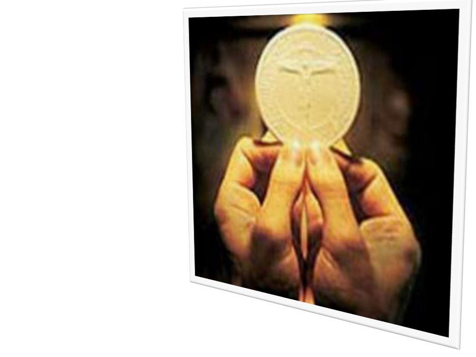4. Mientras estaban comiendo, tomó Jesús pan y lo bendijo, lo partió. (Mt. 26, 26). Avemaría