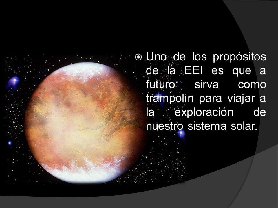  Uno de los propósitos de la EEI es que a futuro sirva como trampolín para viajar a la exploración de nuestro sistema solar.