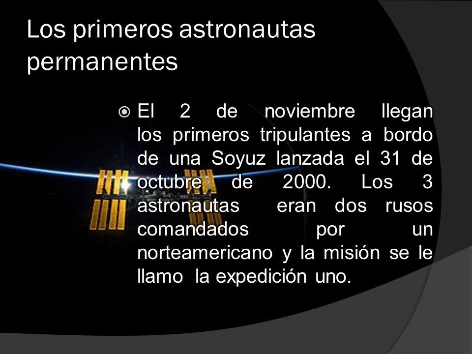 Los primeros astronautas permanentes