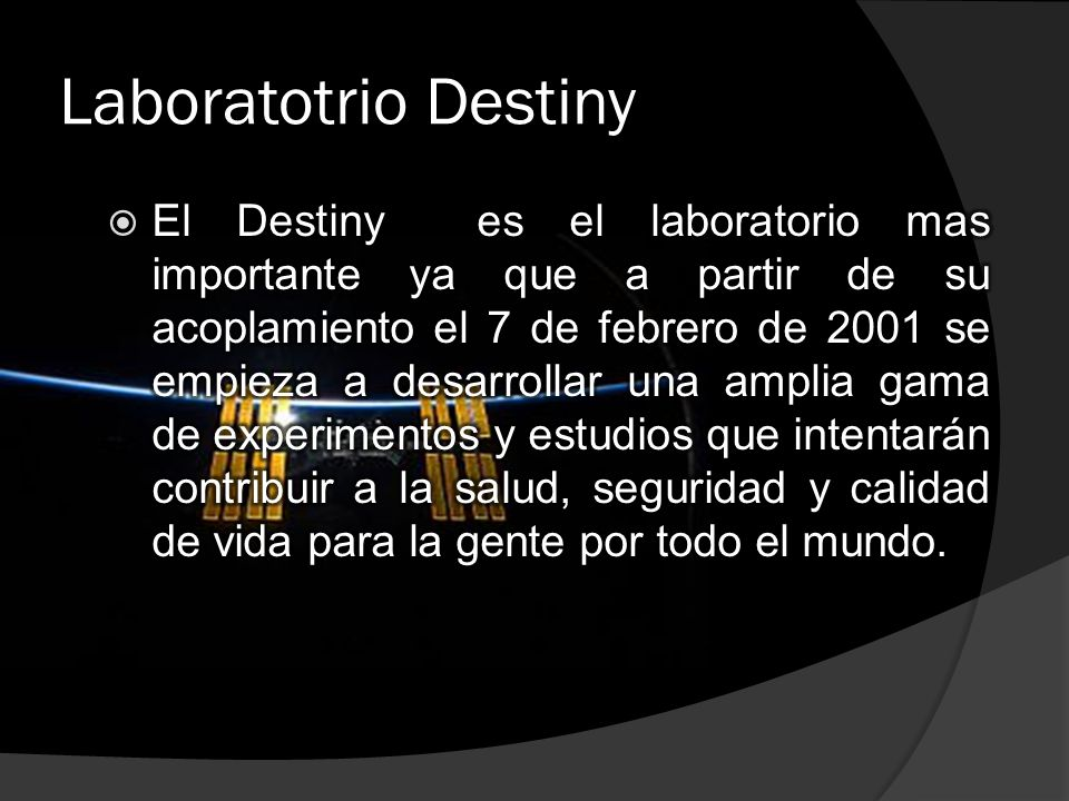 Laboratotrio Destiny