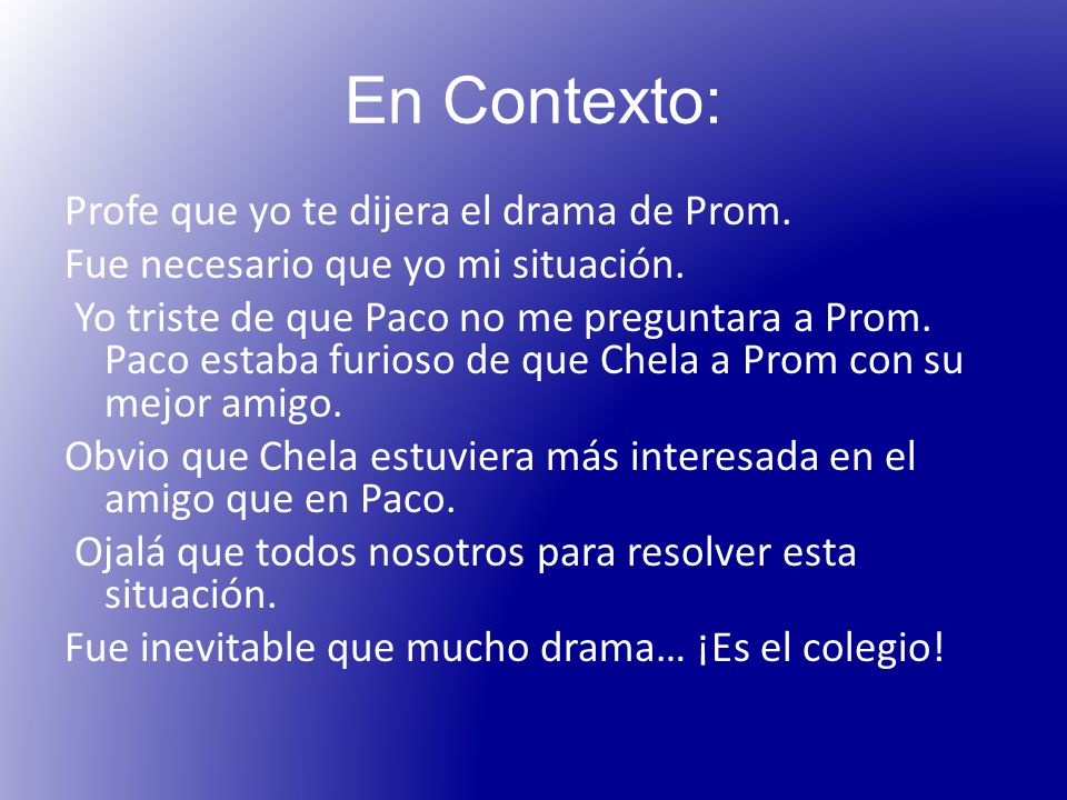En Contexto: Profe que yo te dijera el drama de Prom.