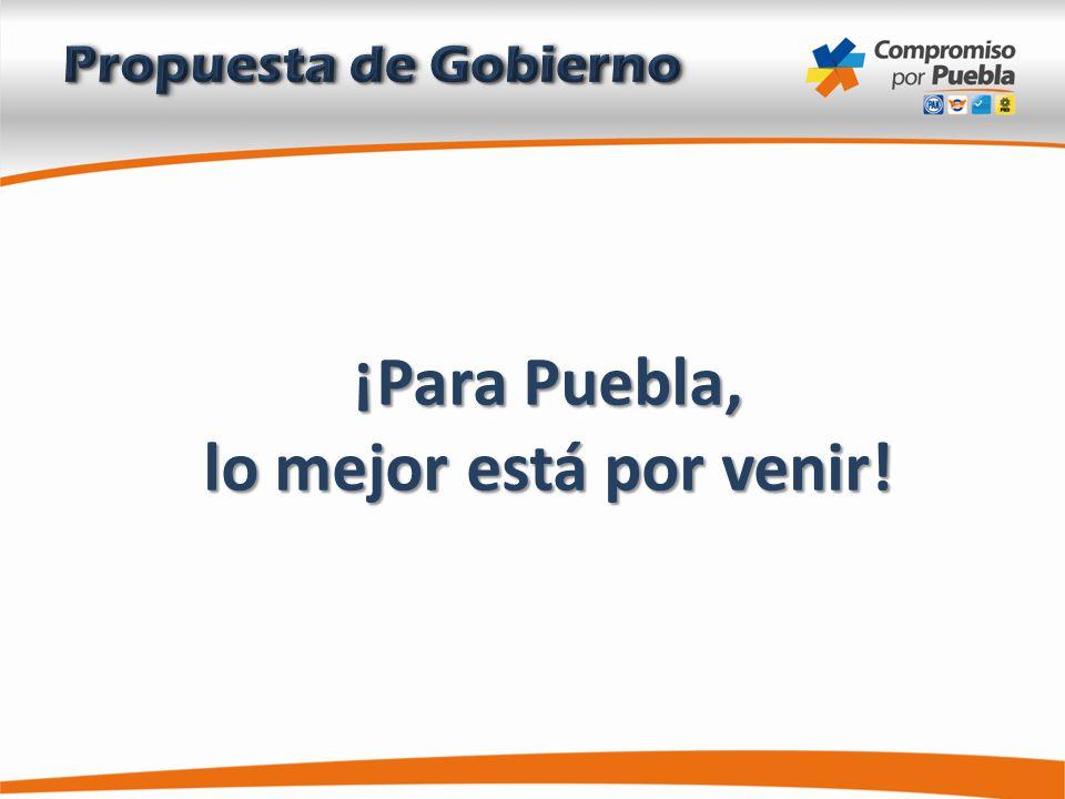 ¡Para Puebla, lo mejor está por venir!