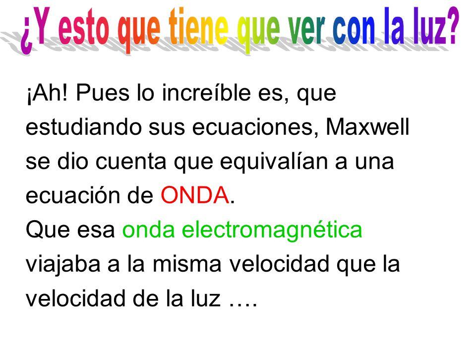 Quedó clarísimo que los fenómenos eléctricos y magnéticos son diferentes manifestaciones de una misma cosa, los fenómenos electromagnéticos