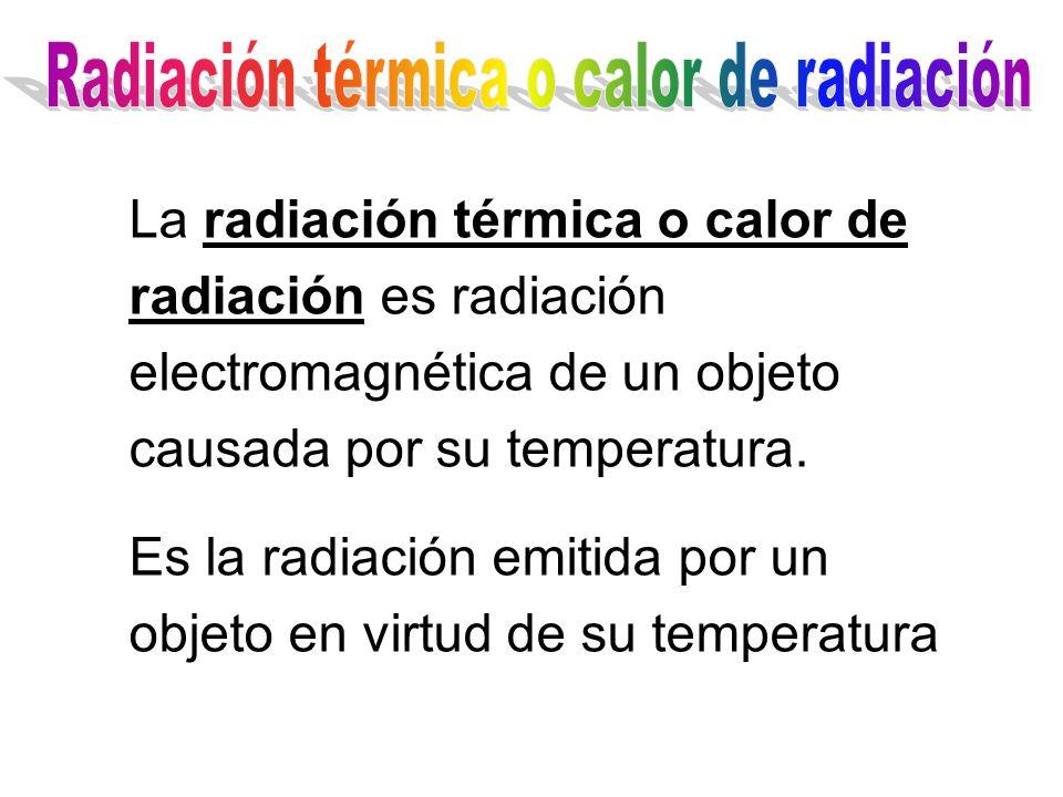 Todos los cuerpos en el Universo emiten radiación La intensidad y el color de la radiación depende de la temperatura a la que esté el cuerpo Los cuerpos más calientes emiten radiación más azul Los cuerpos más fríos emiten radiación más roja