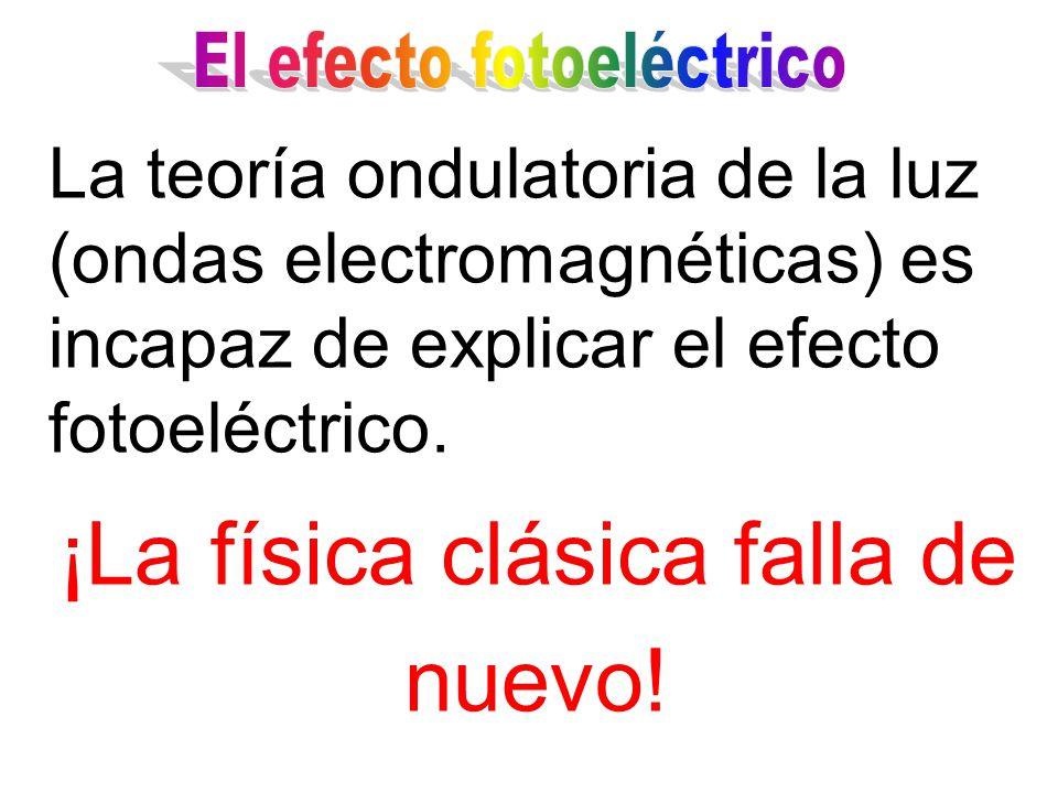 1. Los electrones son emitidos inmediatamente. 2.