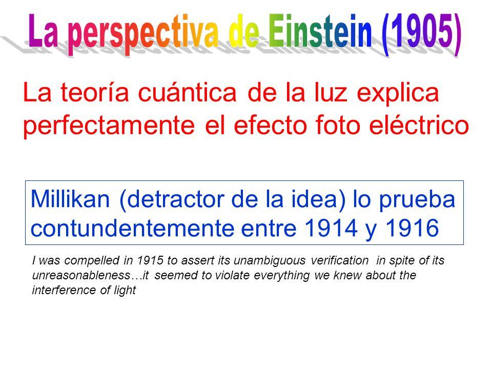 1. Los electrones son emitidos inmediatamente 2.