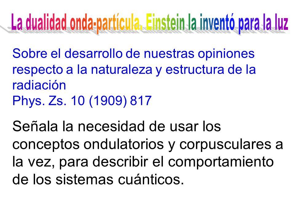 La radiación del cuerpo negro El efecto fotoeléctrico El efecto Compton La teoría cuántica de la luz La cuantización de la energía