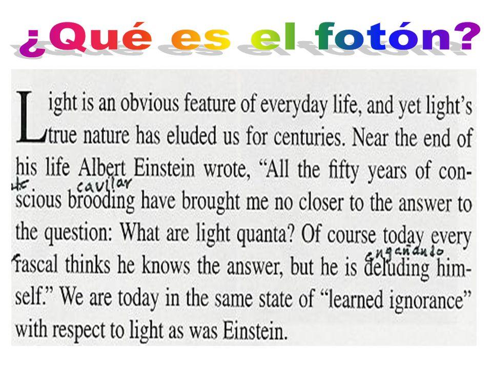 Sobre el desarrollo de nuestras opiniones respecto a la naturaleza y estructura de la radiación Phys.