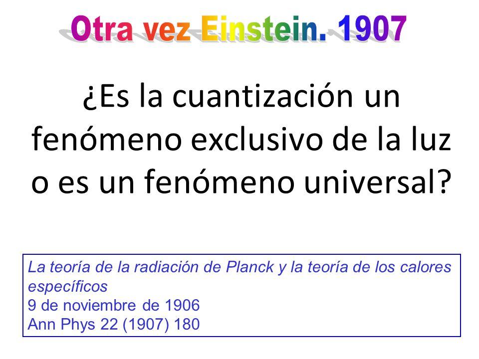 Con la teoría de Einstein, para el movimiento browniano, Perrin (1908) fue capaz de determinar experimentalmente el número de Avogadro A partir de ese momento la teoría atómica de la materia fue universalmente aceptada