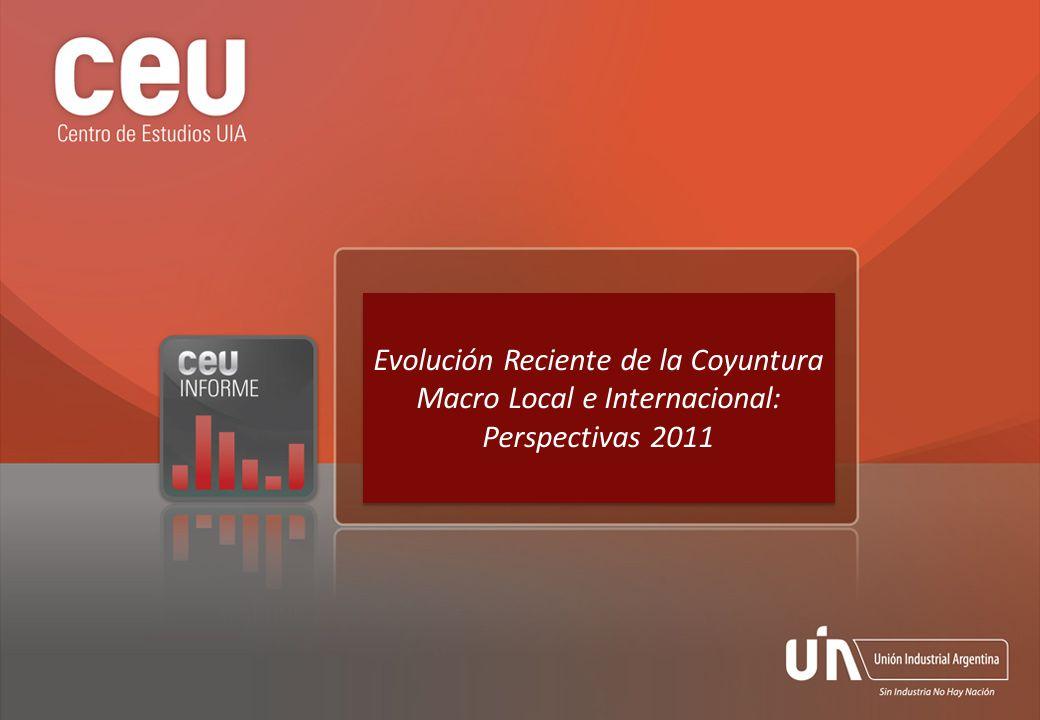 Evolución Reciente de la Coyuntura Macro Local e Internacional: Perspectivas 2011