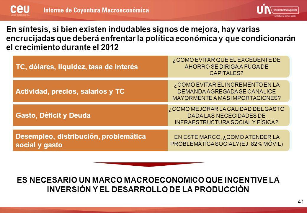 41 ¿COMO MEJORAR LA CALIDAD DEL GASTO DADA LAS NECECIDADES DE INFRAESTRUCTURA SOCIAL Y FÍSICA.