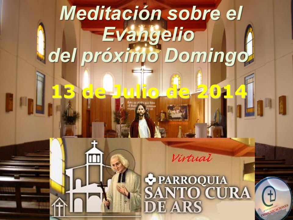Meditación sobre el Meditación sobre elEvangelio del próximo Domingo 13 de Julio de 2014