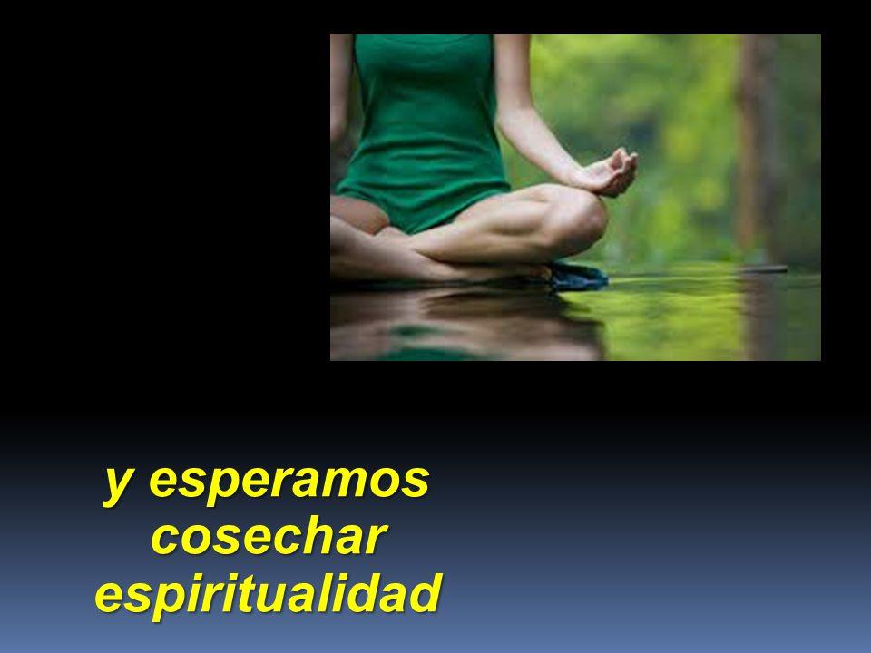 y esperamos cosechar espiritualidad