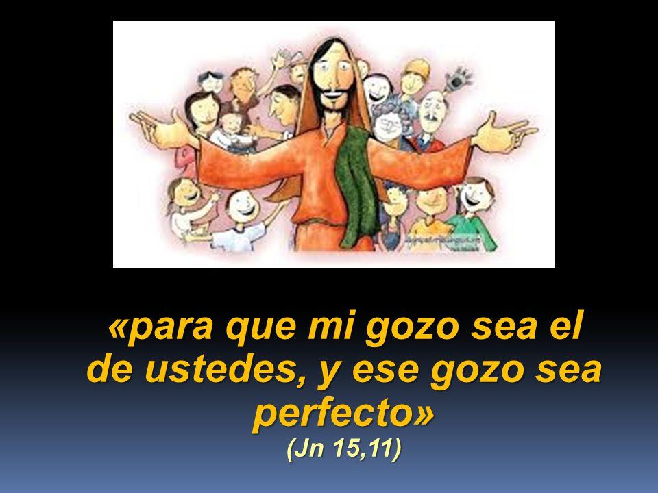 «para que mi gozo sea el de ustedes, y ese gozo sea perfecto» (Jn 15,11)