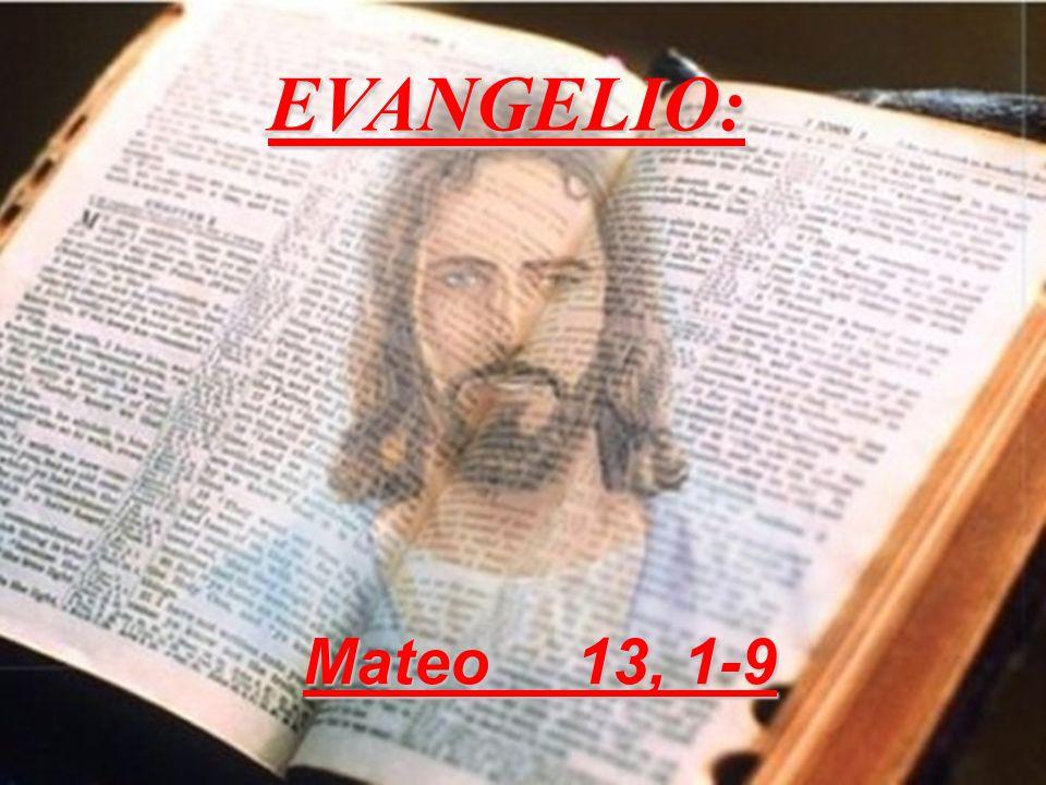 EVANGELIO: Mateo 13, 1-9