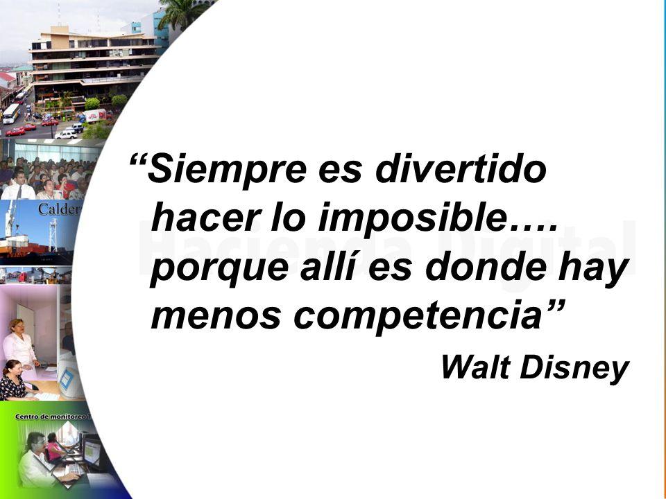 Siempre es divertido hacer lo imposible…. porque allí es donde hay menos competencia Walt Disney