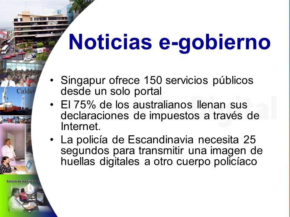 Noticias e-gobierno Singapur ofrece 150 servicios públicos desde un solo portal El 75% de los australianos llenan sus declaraciones de impuestos a través de Internet.