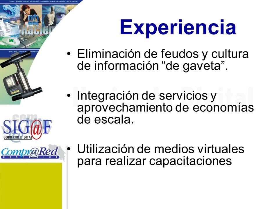 Experiencia Eliminación de feudos y cultura de información de gaveta .
