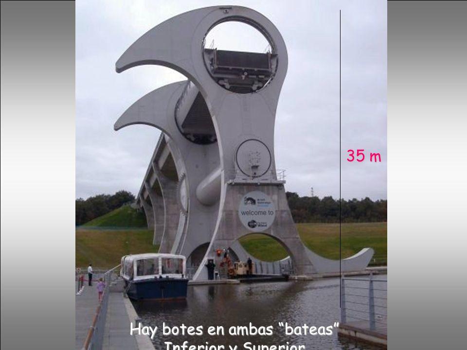 Hay botes en ambas bateas Inferior y Superior 35 m