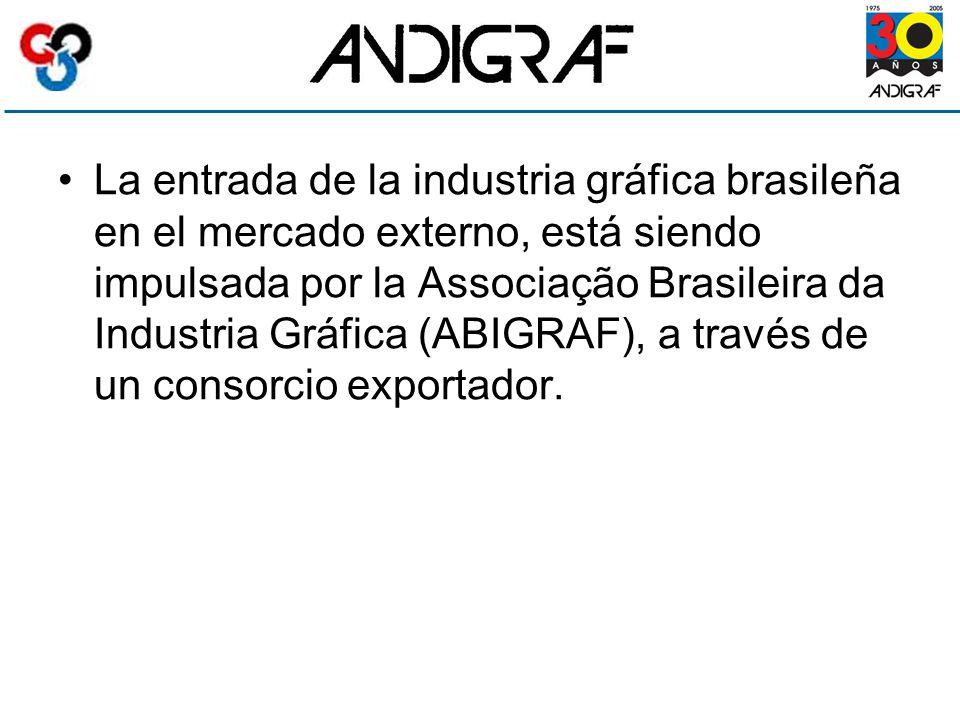 La entrada de la industria gráfica brasileña en el mercado externo, está siendo impulsada por la Associação Brasileira da Industria Gráfica (ABIGRAF), a través de un consorcio exportador.
