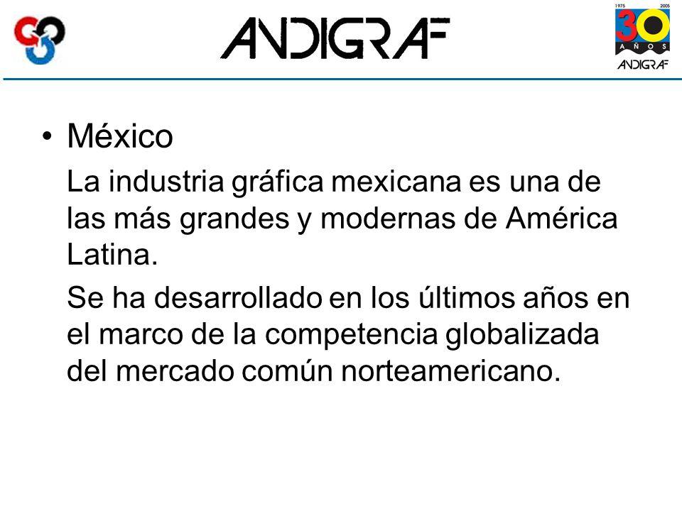 México La industria gráfica mexicana es una de las más grandes y modernas de América Latina.