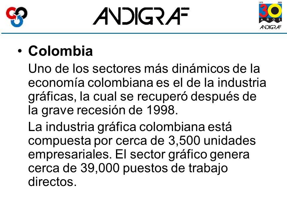 Colombia Uno de los sectores más dinámicos de la economía colombiana es el de la industria gráficas, la cual se recuperó después de la grave recesión de 1998.