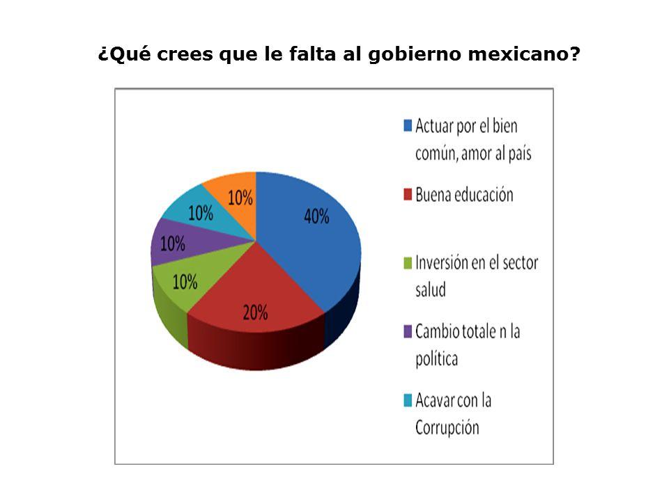¿Qué crees que le falta al gobierno mexicano
