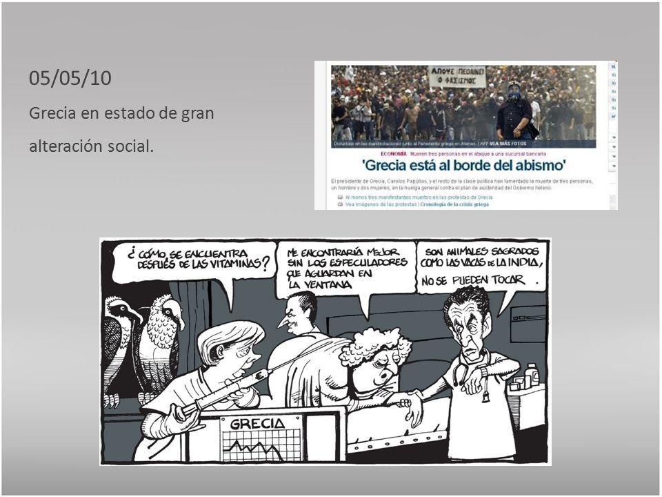 05/05/10 Grecia en estado de gran alteración social.