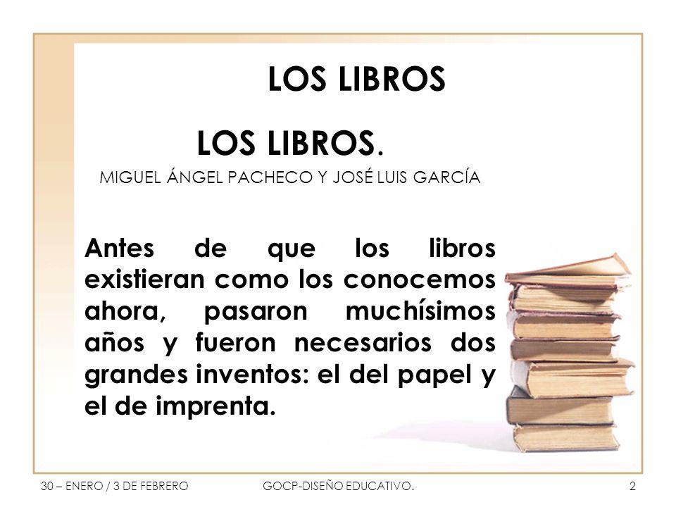LOS LIBROS LOS LIBROS.
