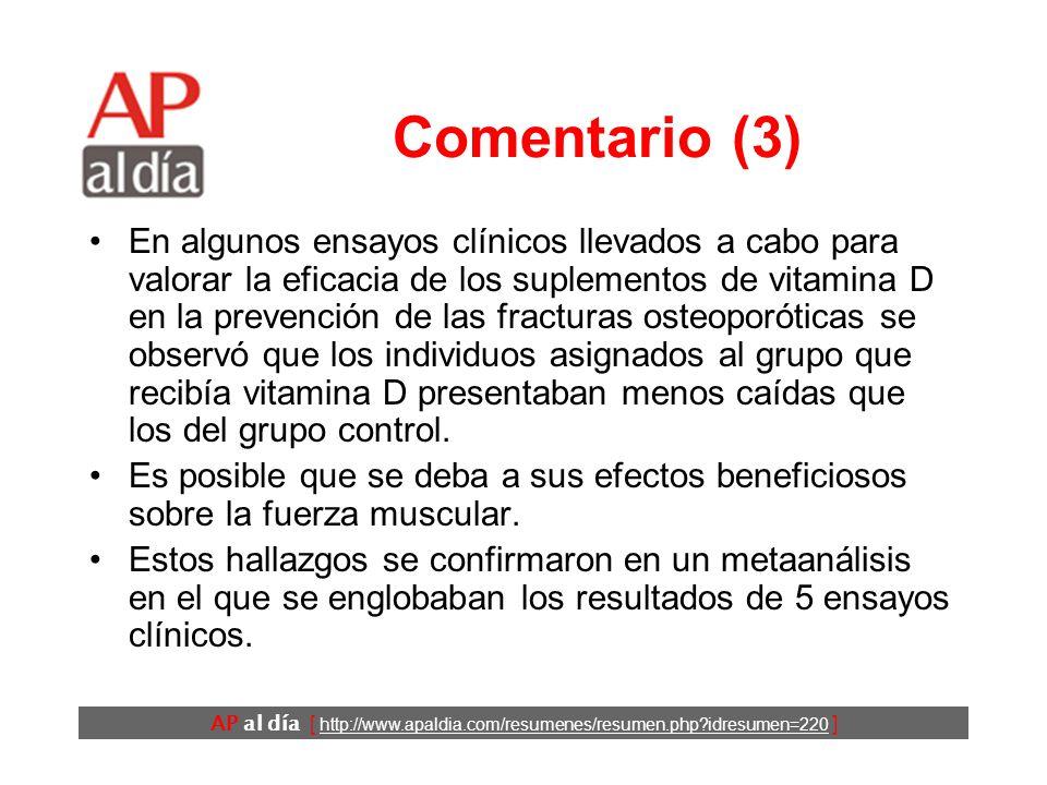 AP al día [ http://www.apaldia.com/resumenes/resumen.php idresumen=220 ] Comentario (2) Varias intervenciones multifactoriales se han mostrado útiles para prevenir las caídas.