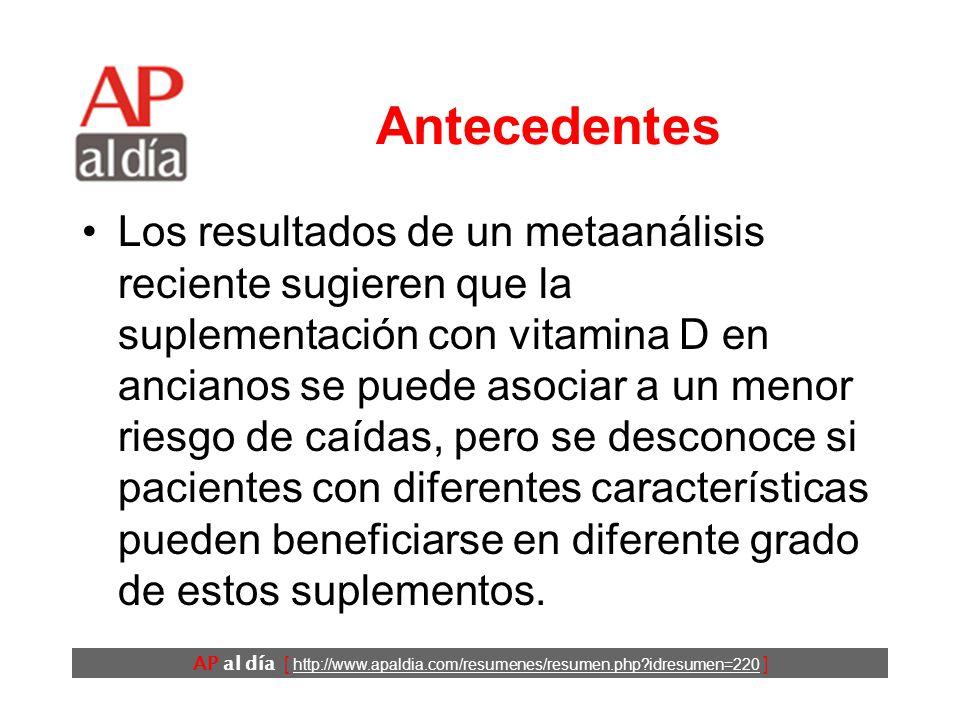 Los suplementos de vitamina D y calcio previenen las caídas en las mujeres Oral H, Pappone C, Chugh A, Good E, Bogun F, Pelosi F et al.