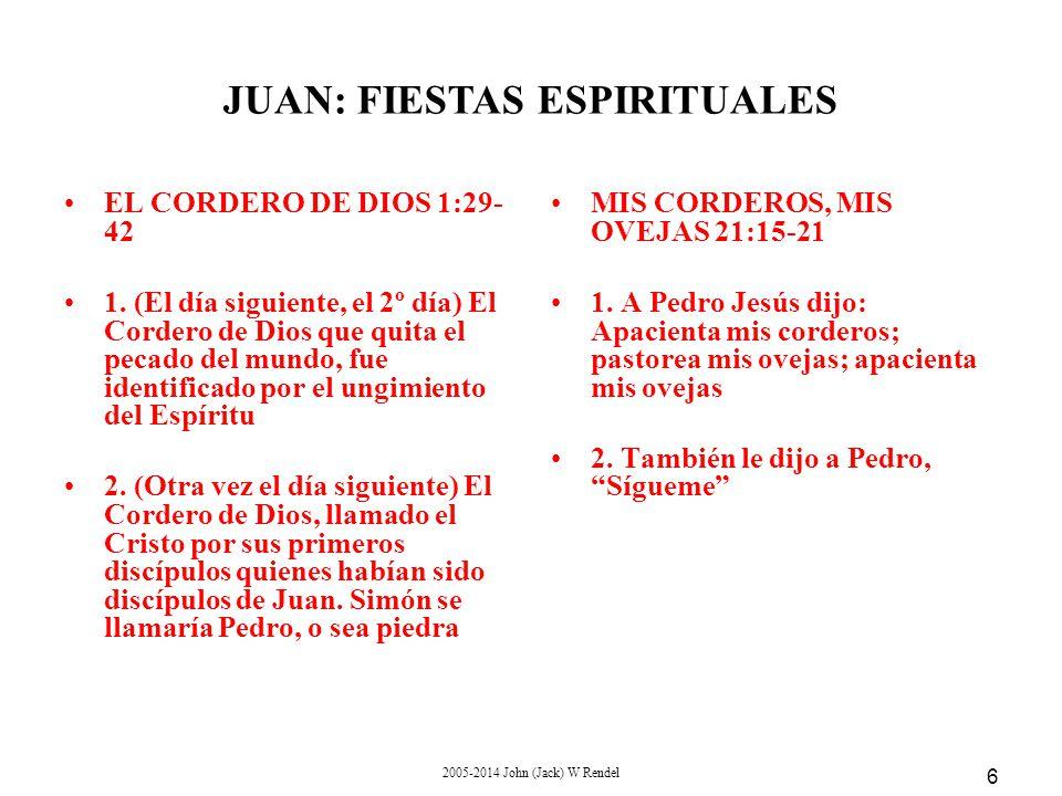 2005-2014 John (Jack) W Rendel 6 EL CORDERO DE DIOS 1:29- 42 1.