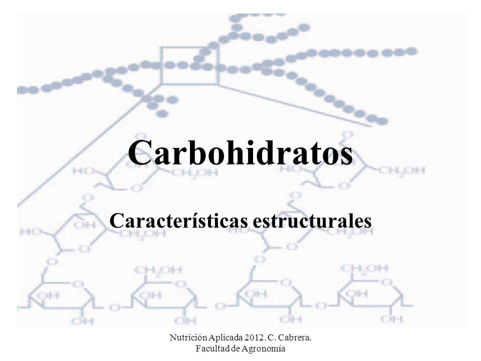 Nutrición Aplicada 2012. C. Cabrera.