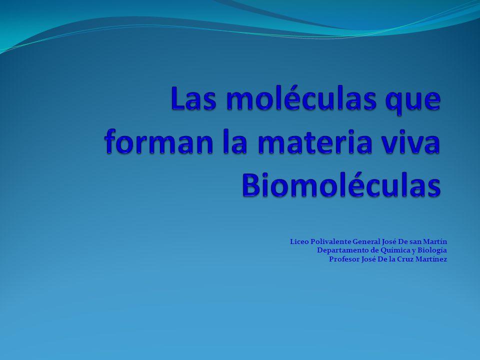 Liceo Polivalente General José De san Martín Departamento de Química y Biología Profesor José De la Cruz Martínez