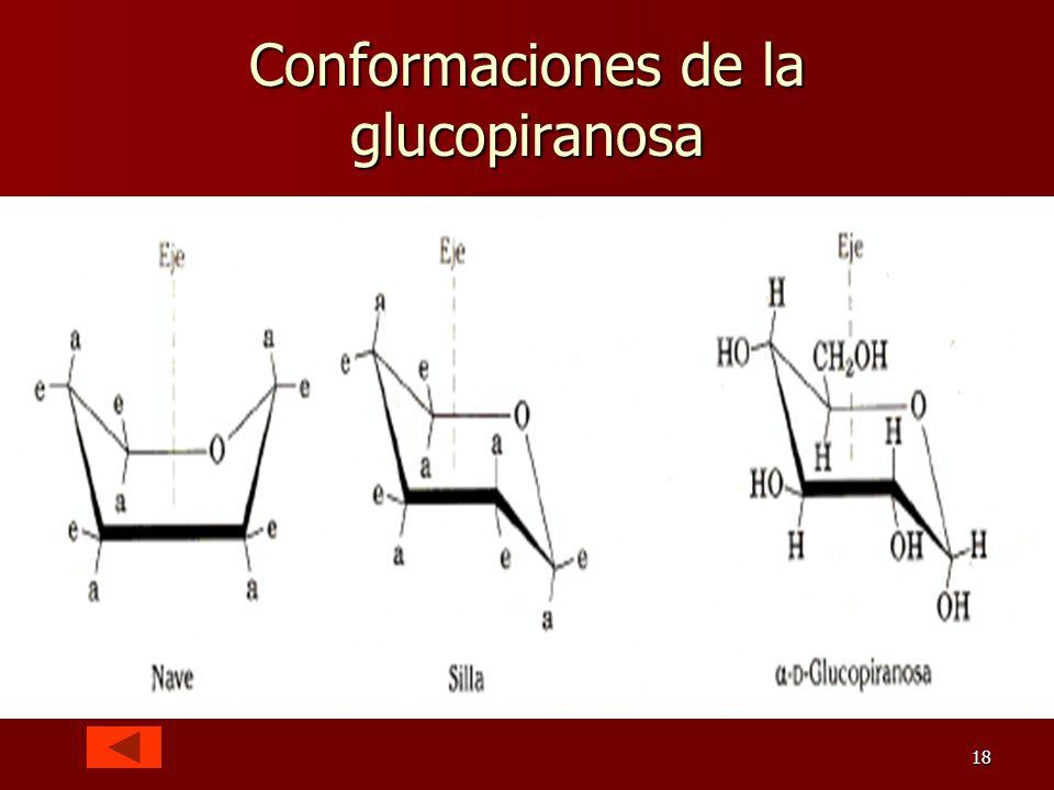 18 Conformaciones de la glucopiranosa