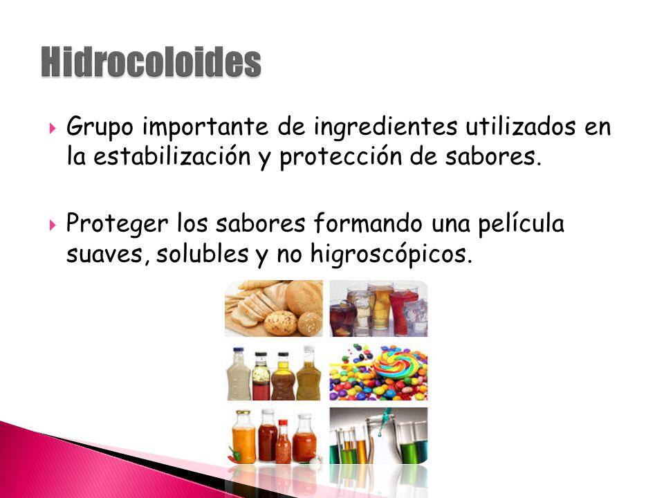  Grupo importante de ingredientes utilizados en la estabilización y protección de sabores.