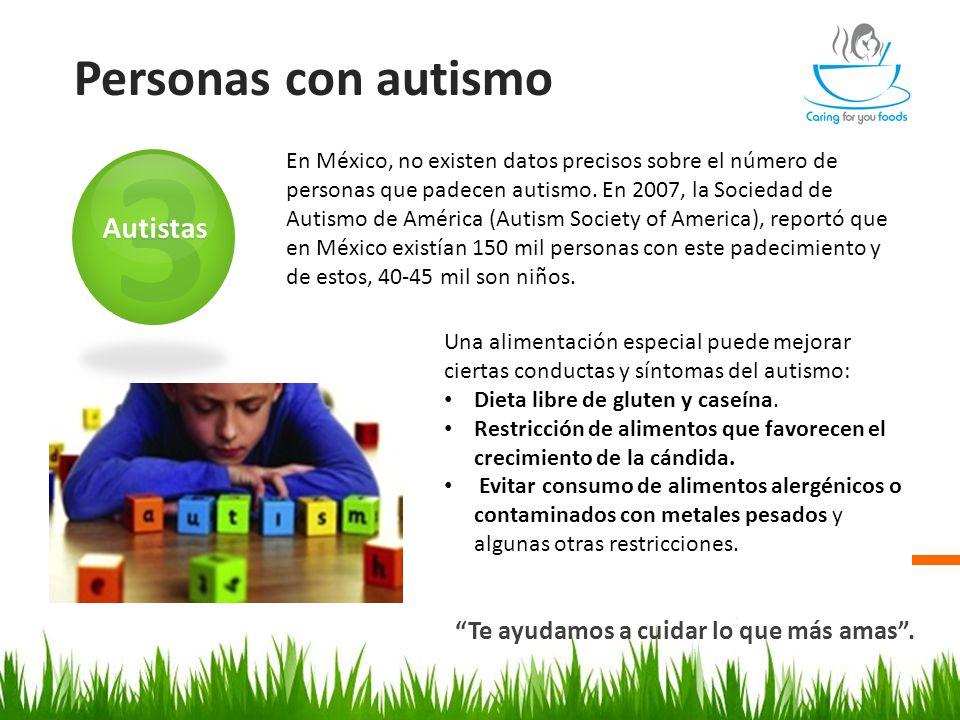 Personas con autismo Te ayudamos a cuidar lo que más amas .