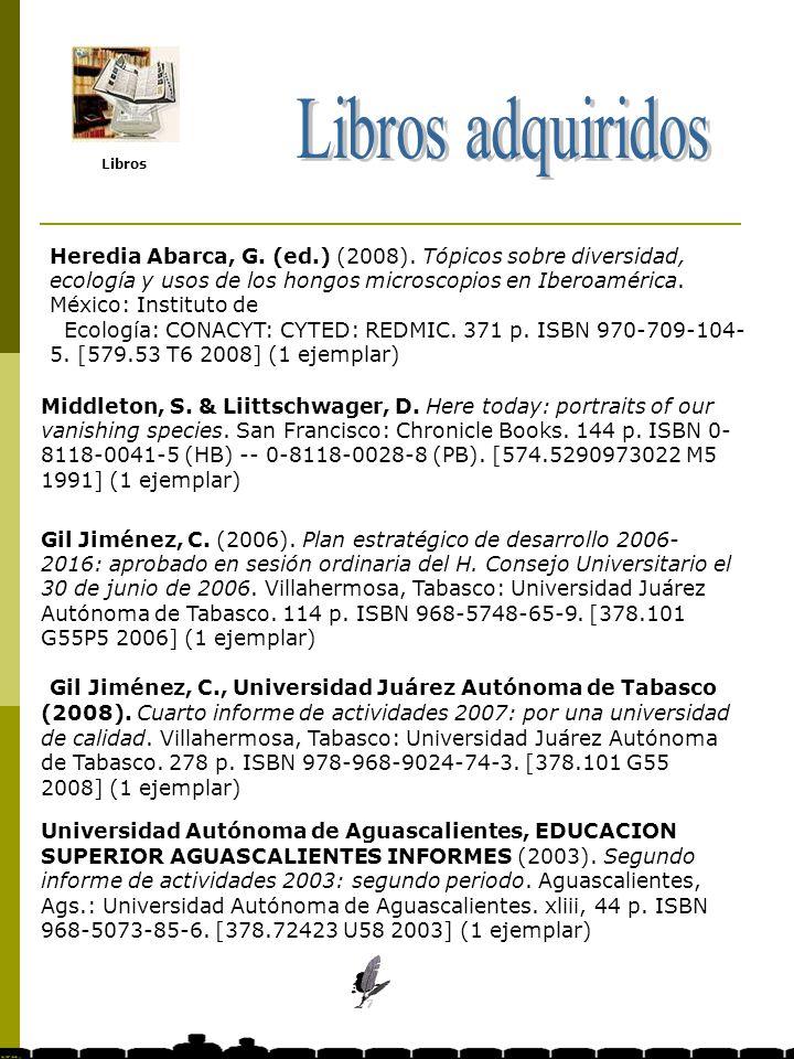Revistas impresas Libros