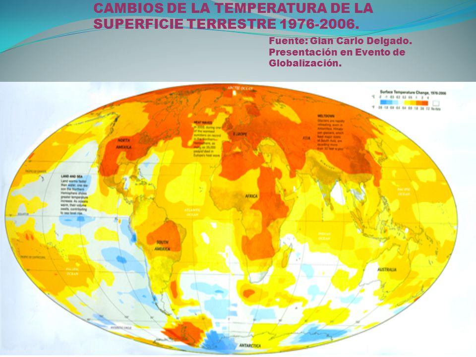 CAMBIOS DE LA TEMPERATURA DE LA SUPERFICIE TERRESTRE 1976-2006.