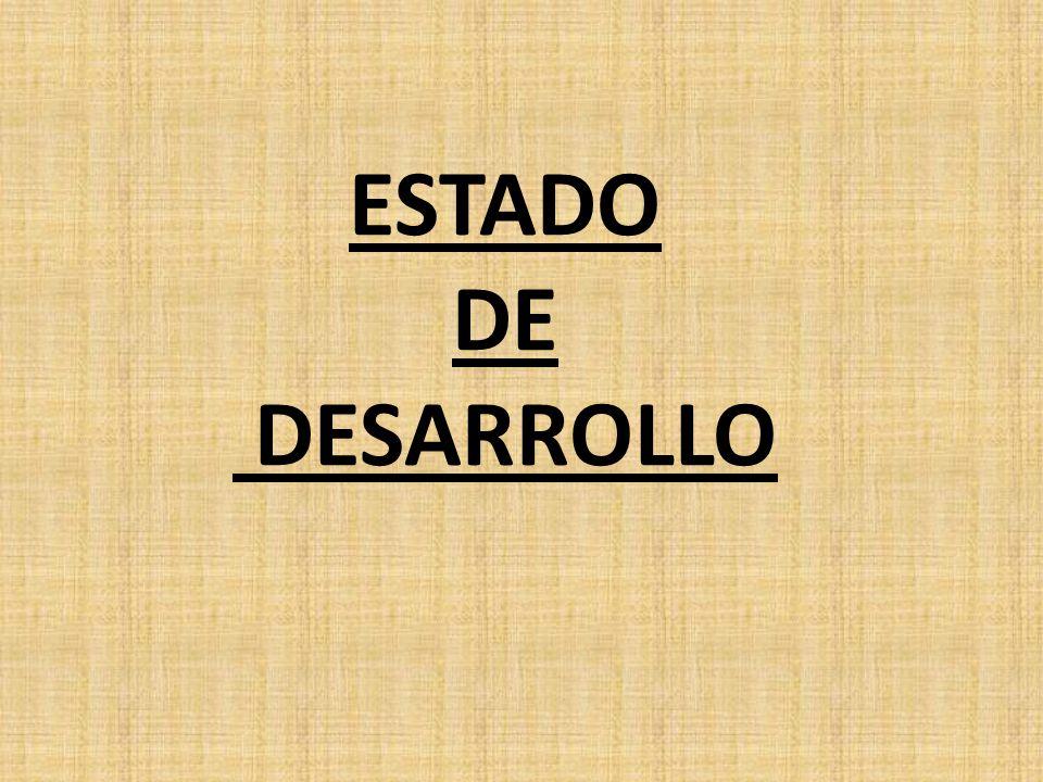 ESTADO DE DESARROLLO