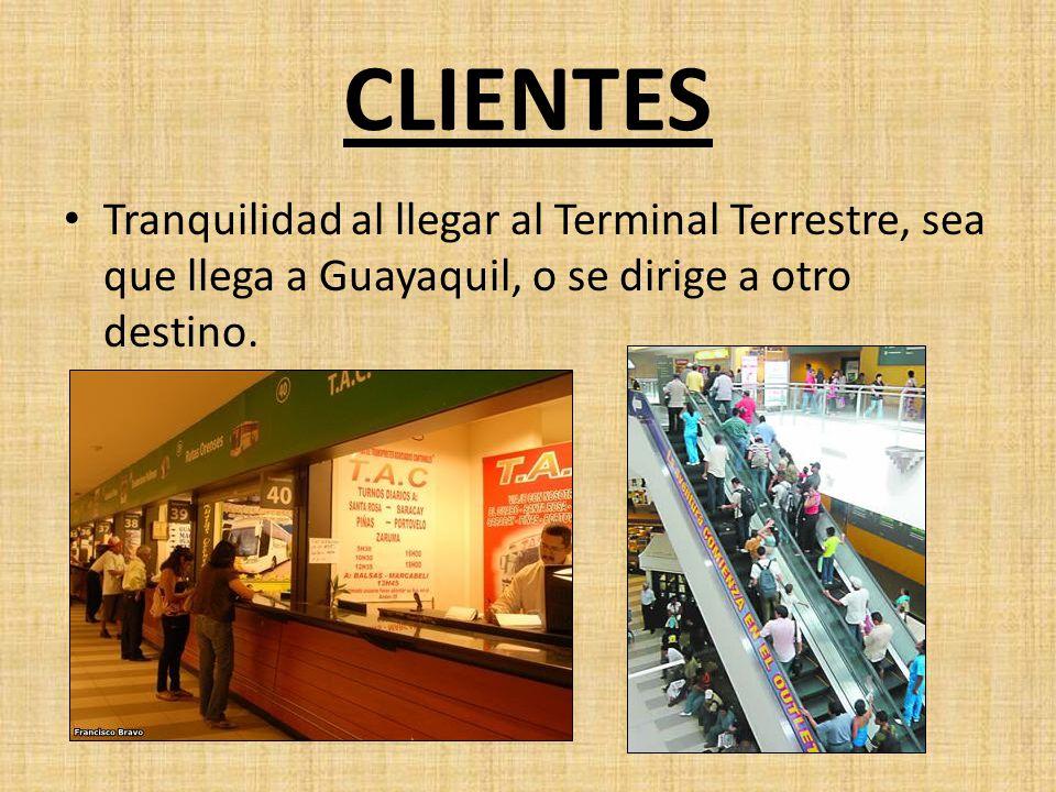 Tranquilidad al llegar al Terminal Terrestre, sea que llega a Guayaquil, o se dirige a otro destino.