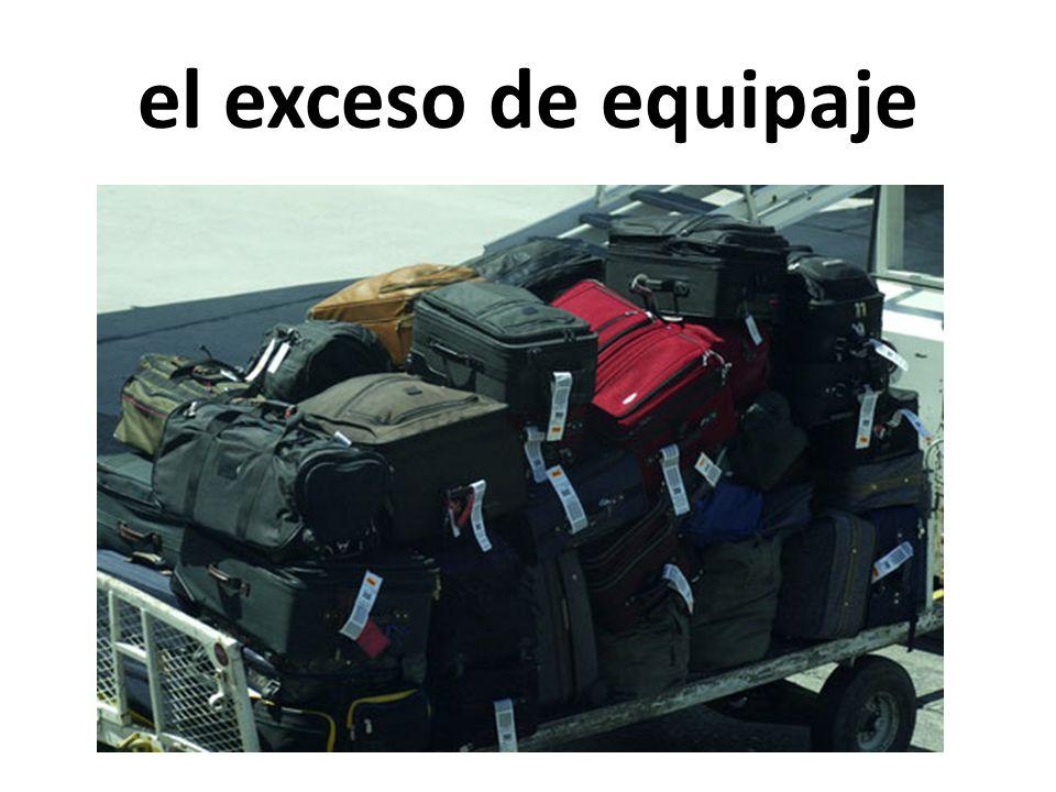 el exceso de equipaje