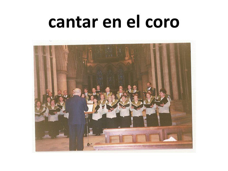 cantar en el coro