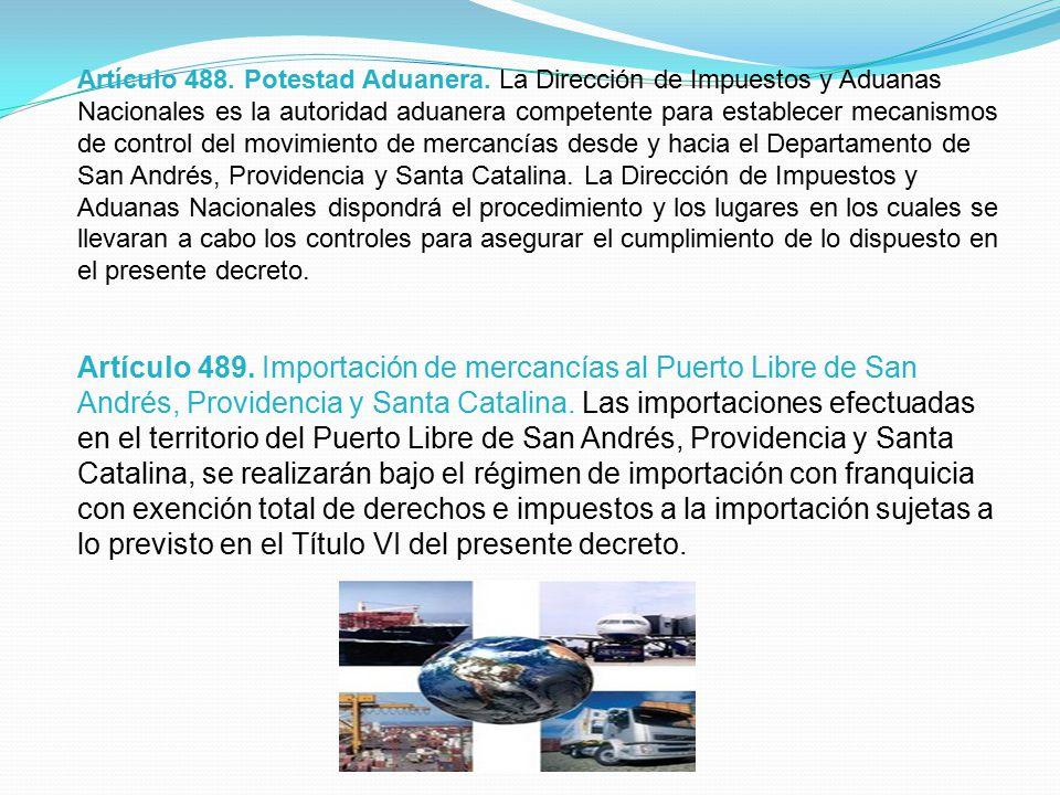 Artículo 488. Potestad Aduanera.