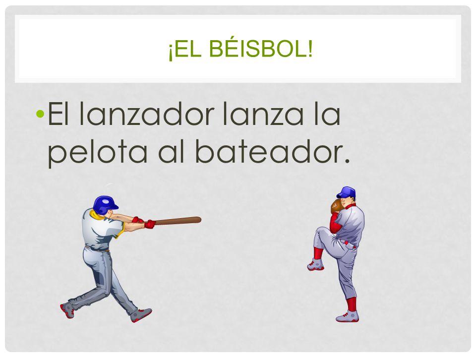 ¡EL BÉISBOL! El lanzador lanza la pelota al bateador.