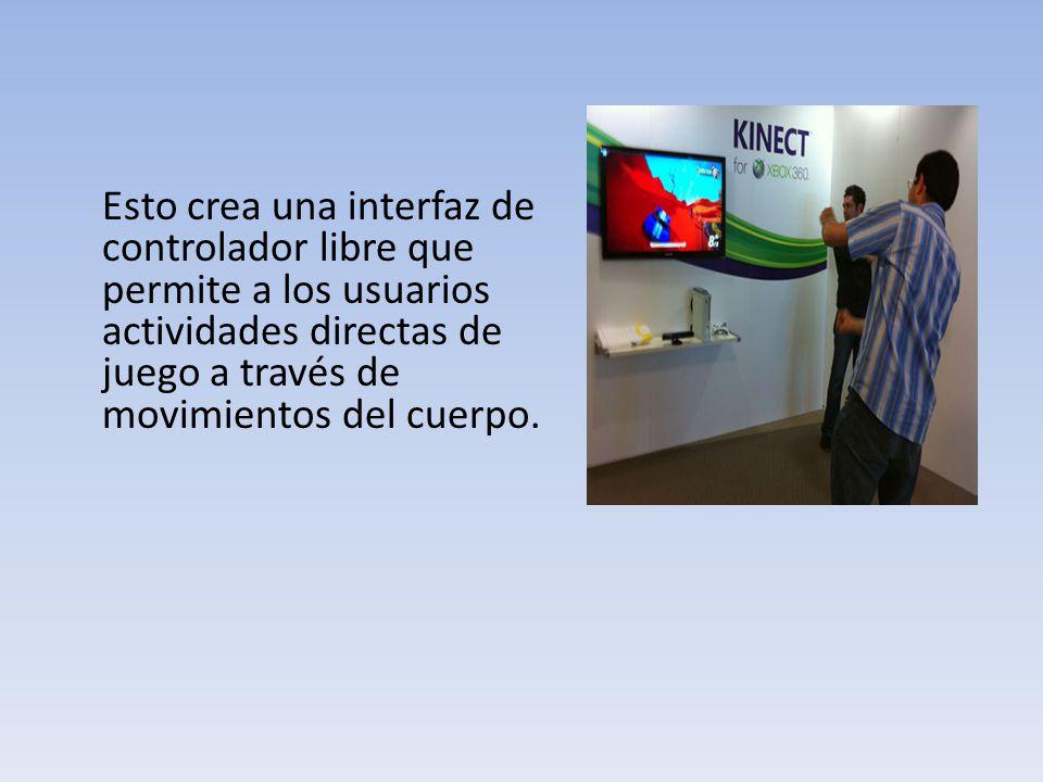 Esto crea una interfaz de controlador libre que permite a los usuarios actividades directas de juego a través de movimientos del cuerpo.