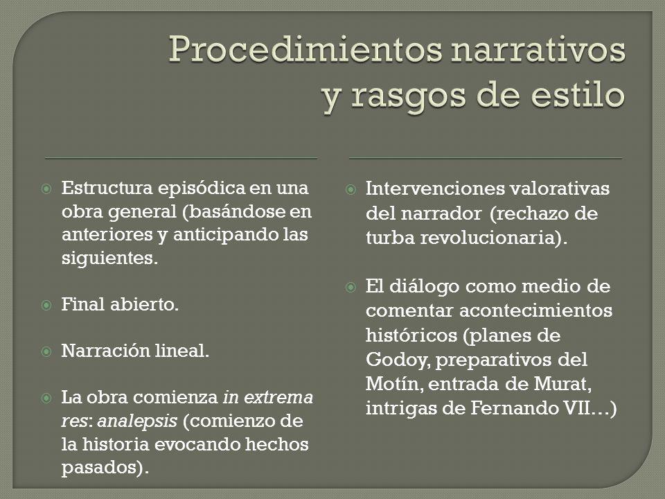  Estructura episódica en una obra general (basándose en anteriores y anticipando las siguientes.
